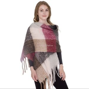 Accessories - Super Soft Plaid Blanket Scarf with Fringes❤️